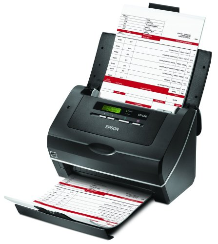 Epson WorkForce Pro GT-S80 Color Document Image Scanner Sheet-Fed Scanner with Auto Document Feeder (ADF) & Duplex (B11B194081) by Epson