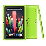 Yuntab Q88 7 Inch Allwinner A33,1.5 Ghz Quad Core Google Android Tablet PC,512MB+8G,Dual Camera,WiFi,Mini USB,G-Sensor,Support SD/MMC/TF Card(Green)