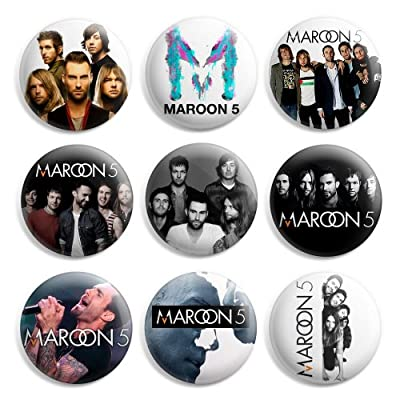 Maroon 5 Pinback Buttons Pin Badges 1 Inch (25mm) - Pack of 9