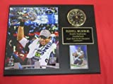 : Russell Wilson Seattle Seahawks Super Bowl XLVIII Champions Collectors Clock Plaque w/8x10 Photo and Card
