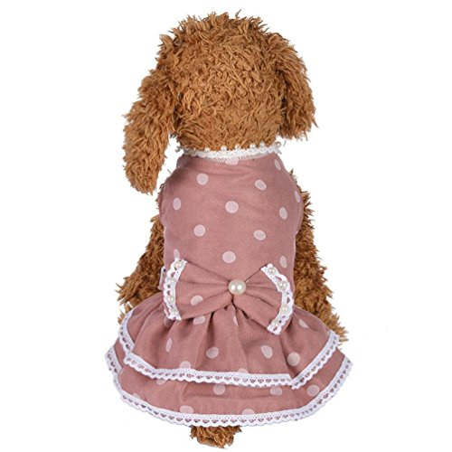 Dog Apparel,Summer Footprint Doggy Shirt Love Print Gift for Small Cat Pet Vest Axchongery (M, Pink) ()