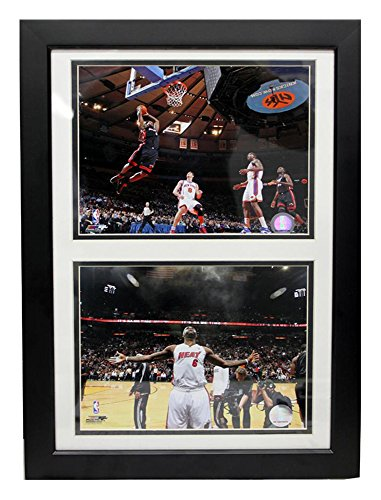 Encore Select 122-18 NBA Miami Heat Deluxe Frame LeBron James #6 Print, 12-Inch by 18-Inch - Deluxe Frame Miami Heat