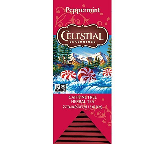 (Celestial Seasonings, Peppermint, Herbal Tea 25ct 1.5oz)