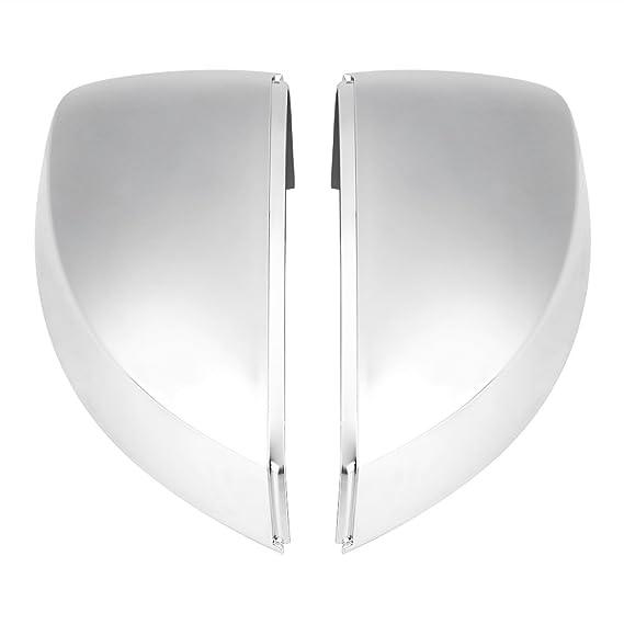 1 par de retrovisores laterales cubiertas del espejo, cubiertas del espejo cromado protector de la carcasa: Amazon.es: Coche y moto