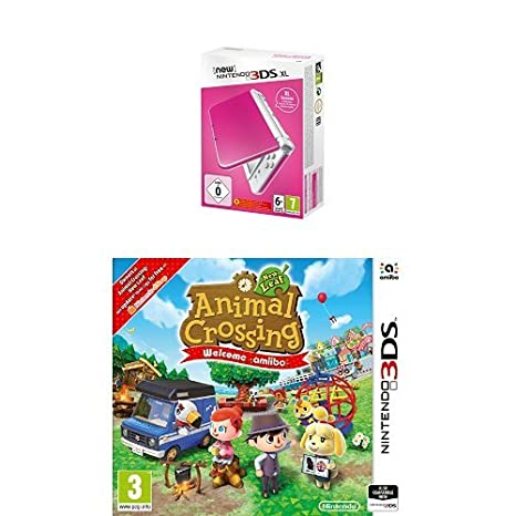New Nintendo 3DS XL Color Rosa + Animal Crossing: New Leaf ...