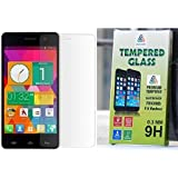 JAIFAON Premium Quality Tempered Glass Screen Protector for MICROMAX UNITE 2 A106 Screen Guard (Clear)