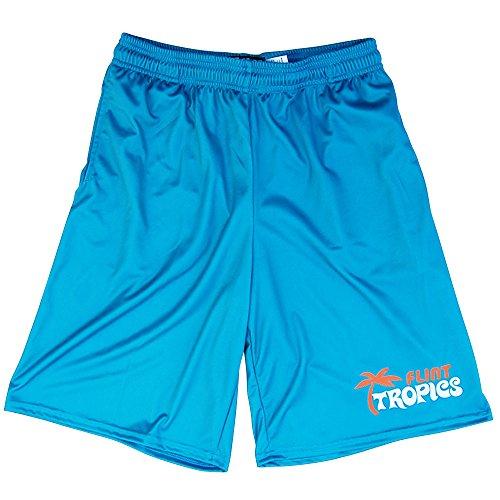 Flint Tropics Basketball Shorts, Aqua, Adult Large -