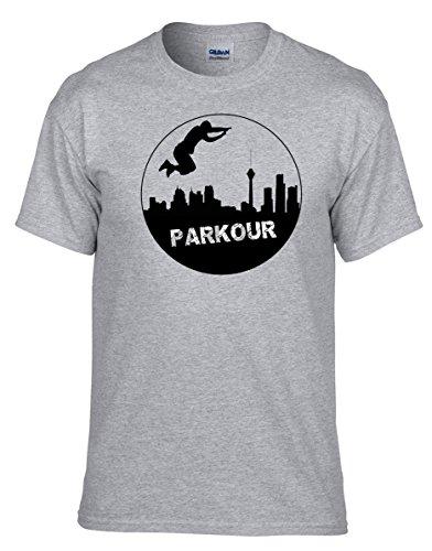 Parkour Akrobatik Fun COOLES Grau Fun T-Shirt -138 -Grau