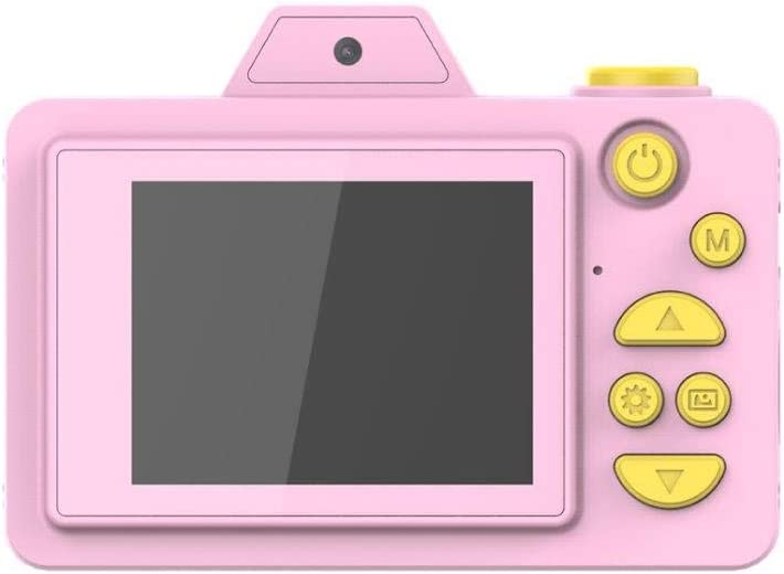 Lightahead Kids Digital Cameras for Girls and Boys Dual Cameras Front and Rear with 2 Inch IPS Screen and Cartoon Silicon Case Great Gift for Kids (16GB TF Card Included) Pink