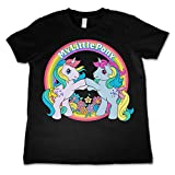 mlp merchandise - Officially Licensed Merchandise My Little Pony - Best Friends Unisex Kids T Shirts - Black 7/8 Years