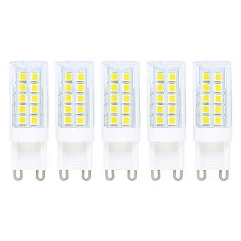 Bombillas LED G9 5W=40W Halógena,Blanco Frío 6000K,Haz 360°,