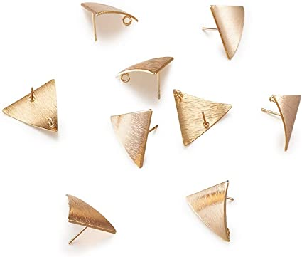 Studs Triangles Gold Plated