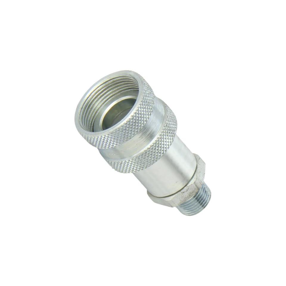 Dixon Valve 3TM3 Steel High Pressure Ball Interchange Fitting, Coupler, 3/8 Coupling x 3/8   18 NPTF Male Thread