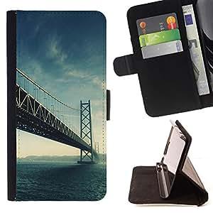 For Samsung Galaxy Core Prime / SM-G360,S-type Arquitectura EE.UU. Hermosa San Fran Puente SF- Dibujo PU billetera de cuero Funda Case Caso de la piel de la bolsa protectora