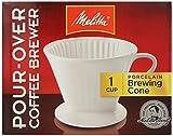 melitta pour over ceramic - Melitta 64101 Porcelain #2 Cone Brewer