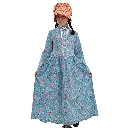 Pioneer Girls Costume (GRACEART Reenactment Pioneer Prairie Colonial Girl)