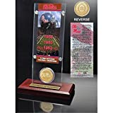 NCAA Mississippi Old Miss Rebels 3 Time National Champions Ticket Coin Acrylic Desktop, 12'' x 6'' x 7'', Bronze
