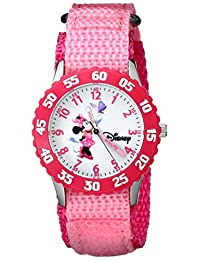 Disney Kids' W000025 Minnie Mouse Stainless Steel Time Teacher Watch