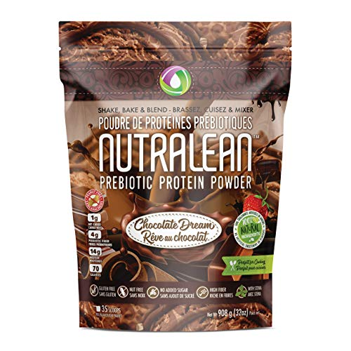 NUTRALEAN PREBIOTIC Protein Powder – 100 All Natural NO Artificial Sweeteners or Flavours Gluten-Free Peanut Nut Free Chocolate Dream