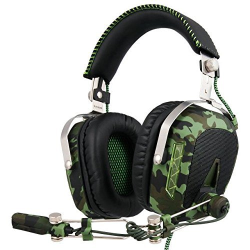 GW SADES SA926T Stereo Gaming Headset for PS4 New Xbox One, Bass Over-Ear Headphones with Microphone and In-line Volume Control for Laptop, PC, Mac, iPad, Computer, Smart phones Camouflage