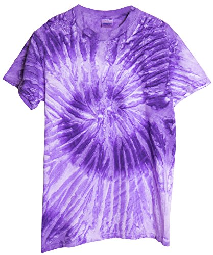 Ragstock Tie Dye T-Shirt, Spiral-LT-Purple - S