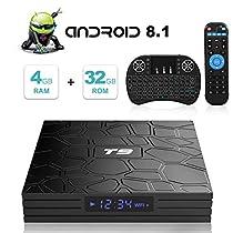 Oferta en Android TV Box, T9 Android 8.1 TV Box con Mini Teclado