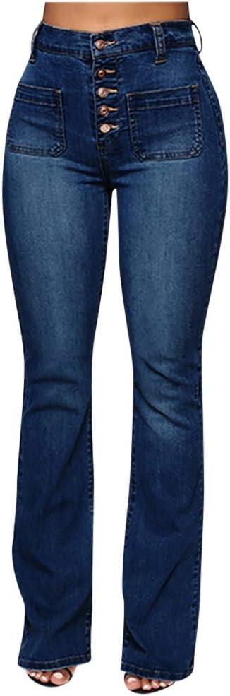 Jeans Para Mujer Cintura Alta Ajustados Talla Grande Corte Recto Amazon Com Mx Ropa Zapatos Y Accesorios