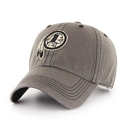 Signature Adjustable Hat - NFL Washington Redskins Deck Hand OTS Challenger Adjustable Hat, Charcoal, One Size