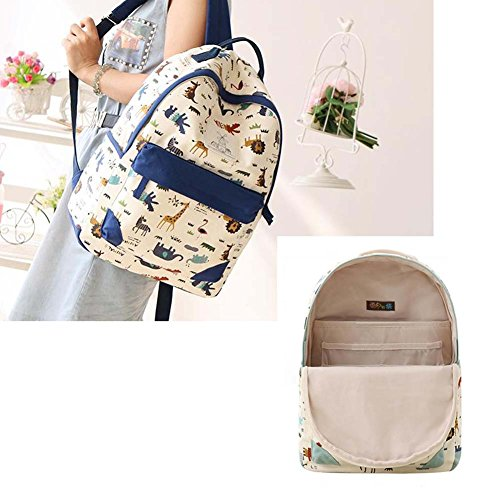 Fashion Student Bag Casual Canvas Rucksack Kleine Fresh Travel Rucksack_A2