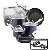 Farberware 10062 Nonstick Cookware Set, Large, Sapphire Shimmer
