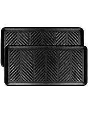 SafetyCare Rubber Shoe & Boot Tray - Multi-Purpose - 80 cm x 40 cm - 2 Mats
