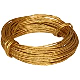 Bulk Hardware BH02242 Picture Wire, 6 Metre (19.5ft) 50lb Breakweight - Brass