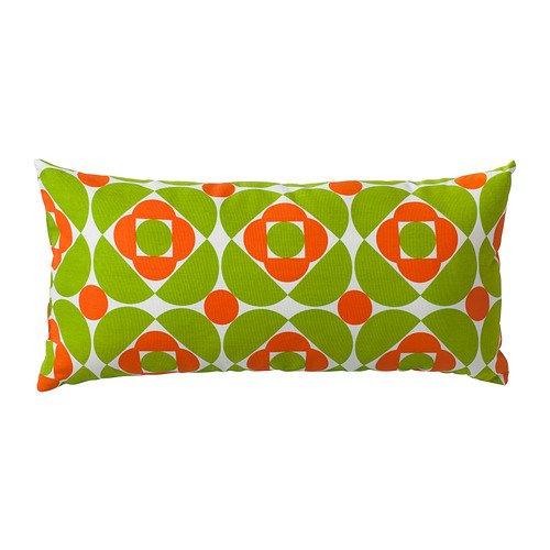 IKEA SKAVGRAS - Cojín, blanco / verde, anaranjado - 30x60 cm ...