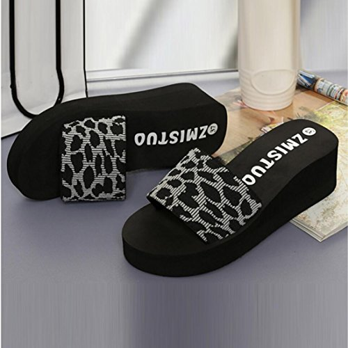 Shoes Slippers Summer Bath erthome Women Flops Wedge Slippers EVA Beach Slope Gray Platform Shoes gqw4AvFwP