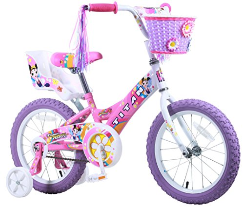 Titan Girl's Flower Princess BMX Bike, Pink, 16-Inch (16 Inch Bike For 4 Year Old)