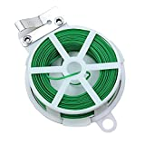 KinGrow 164 Feet (50m) Multi-Function Garden Plant Twist Tie with Cutter for Plant Growing (Green)