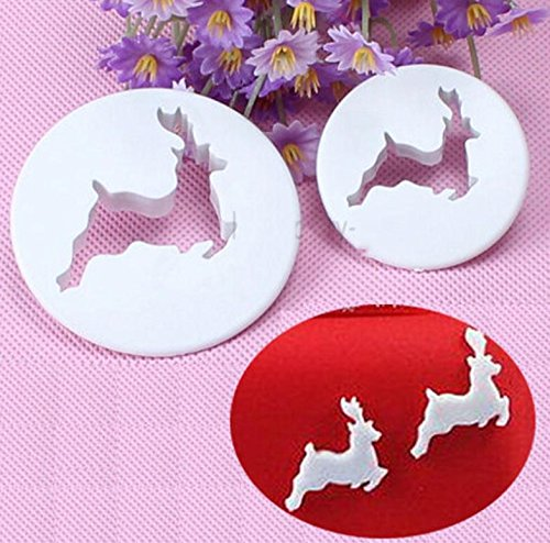 Craft Cupcake Toppers Christmas Deer Fondant Cake Cookie Cutter Decorating Tool