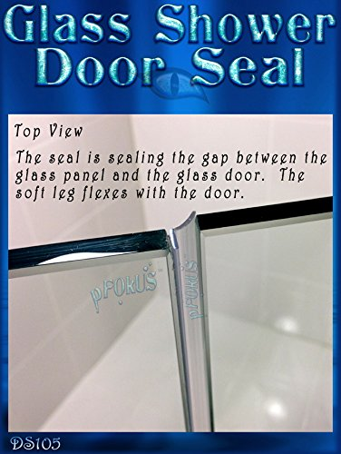 Amazon Ds105 Frameless Glass Shower Door Seal Wipe Sweep 98