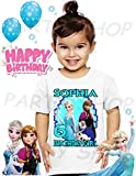 Frozen Birthday Shirt, Elsa, Anna and Olaf Frozen Birthday Party, Add Any Name and Age, Family Matching Shirts, Girls Birthday Shirts, Frozen Girls 1