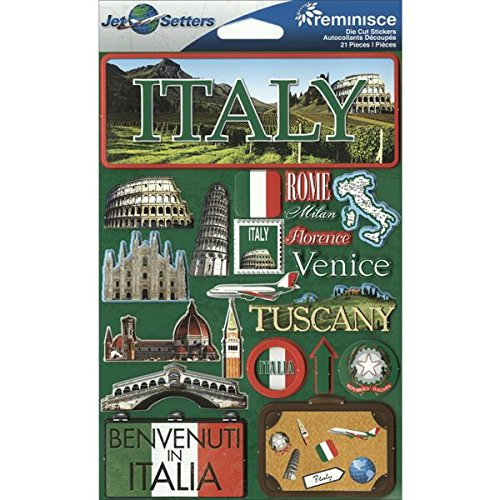 (Reminisce Jet Setters 3D Sticker. This package contains one 7.5 inch x 4.5 inch self-adhesive sticker sheet. Sold separately. Made in)