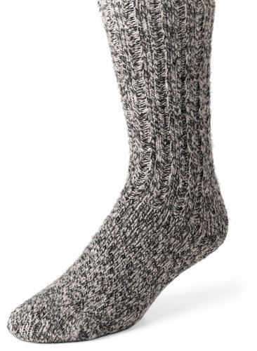 Wigwam Unisex El-Pine Warm Wool Heavyweight Socks, Salt/Pepper, LG