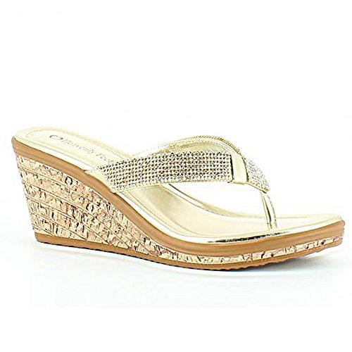 Heavenly Feet , Damen Sandalen Gold