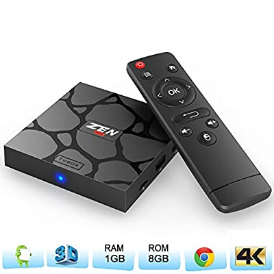 Zenopllige Z3 Android TV Box Amlogic S905 Android 5.1 Lollipop OS TV Box Quad Core 1G/8G 4K Google Streaming Media Players with WiFi HDMI DLNA