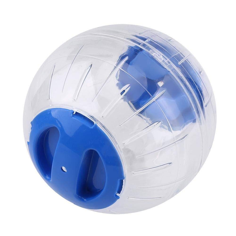 Hamster Exercise Sphere, 4.7 Inches Plastic Cute Pet Rat Mice Gerbil Running Jogging Playing Funny Toys Dwarf Hamster Mini Run-About Exercise Wheels Sphere(Blue) Best Present for Small/Medium Dogs by Cuitan