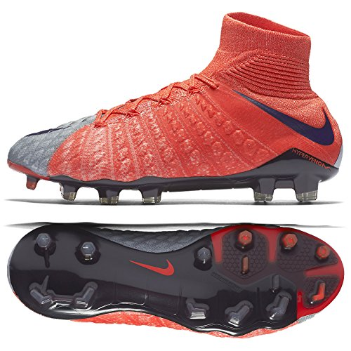 dd72ef97f Galleon - Nike Womens Hypervenom Phantom III Dynamic Fit FG Cleats  Wolf  Grey  (7)