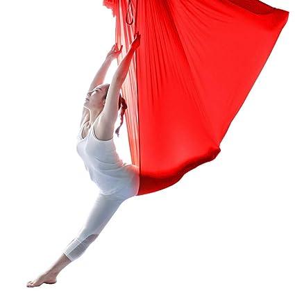 KKCD Bandas de Resistencia 5M Flying Yoga Hamaca para Yoga ...