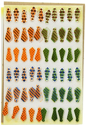 Lucks Dec-Ons Decorations Molded Sugar/Cup-Cake Topper, Tie Assortment, 1.5 Inch, 120 Count