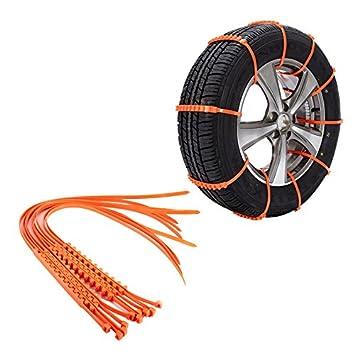 10 cadenas de neumáticos de emergencia antideslizantes para neumáticos de coche, antideslizantes, cadenas para neumáticos de nieve, para coches, camiones, ...