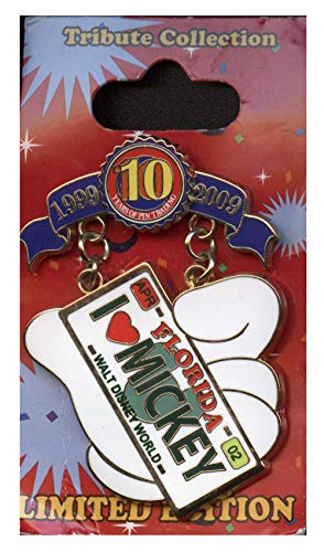 WDW Trading Pin - Trading 10th Anniversary - Tribute Collection - Cast Lanyard Series - I Heart Mickey License Plate ()