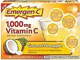 Emergen-C 1000 mg Vitamin C, Coconut Pineapple 30 ea (Pack of 10)